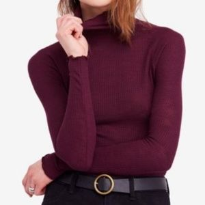 FREE PEOPLE Make It Easy Thermal thin Burgundy